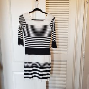 Bodycon color block square neck dress sz Medium